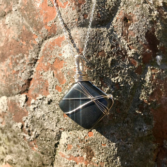 Stability and Willpower Pendant: Hematite