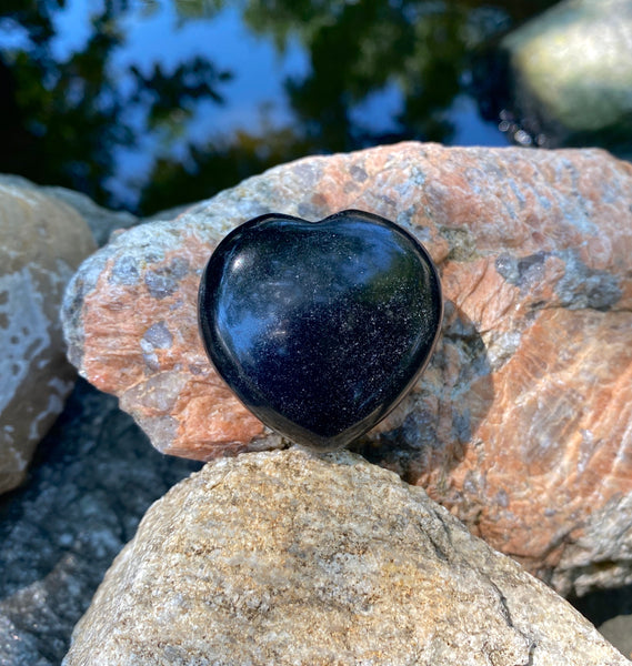 Grounding and Transformation Heart: Black Obsidian