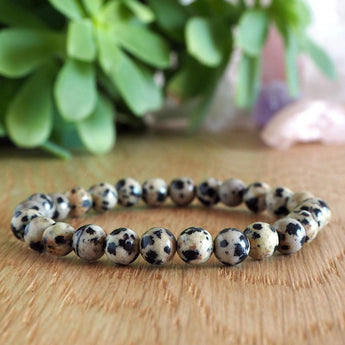 Joy and Purpose Bracelet: Dalmatian Jasper