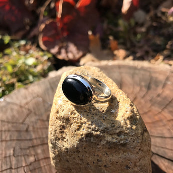 Strength and Protection Onyx Sterling Silver Ring