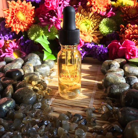 OYA Infused with Labradorite Crystal Aromatherapy Potion