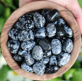 Personal Growth and Purity: Snowflake Obsidian