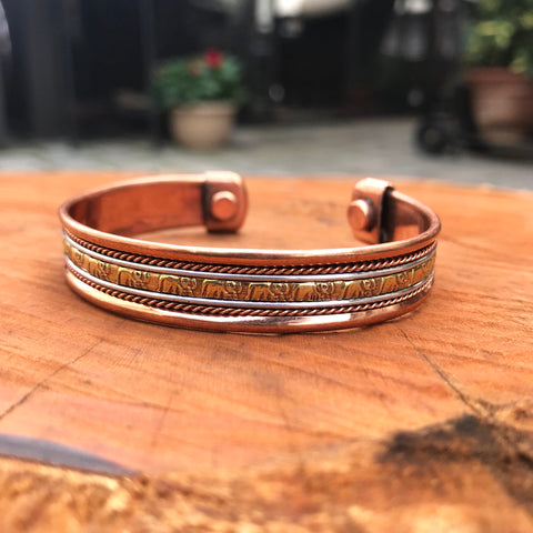 Healing Copper Bracelet: Elephant Animal Spirit
