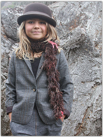 Brown Stack Scarf