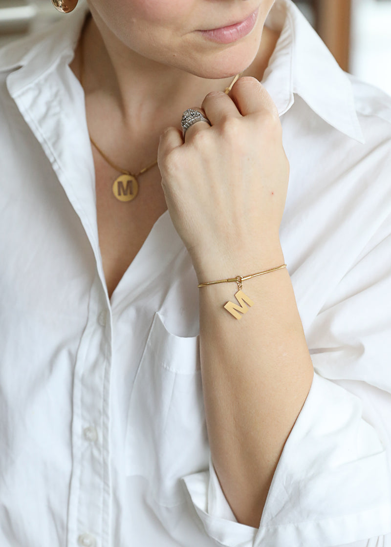 Namesake Bracelet in gold