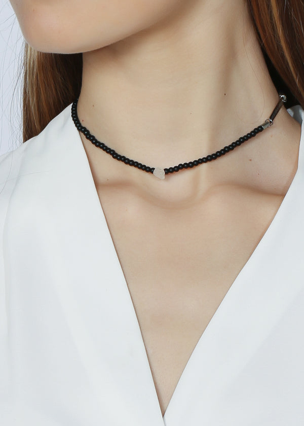 SOUL SPARKLE CHOKER - LIMITED EDITION BLACK AGATE