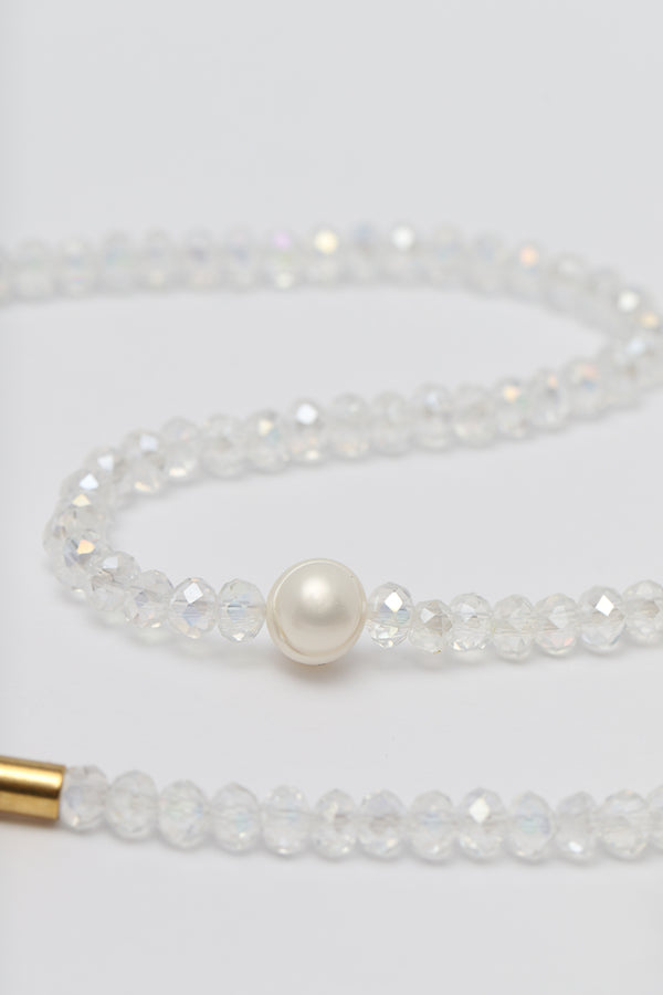 SOUL SPARKLE CHOKER - CLEAR WHITE