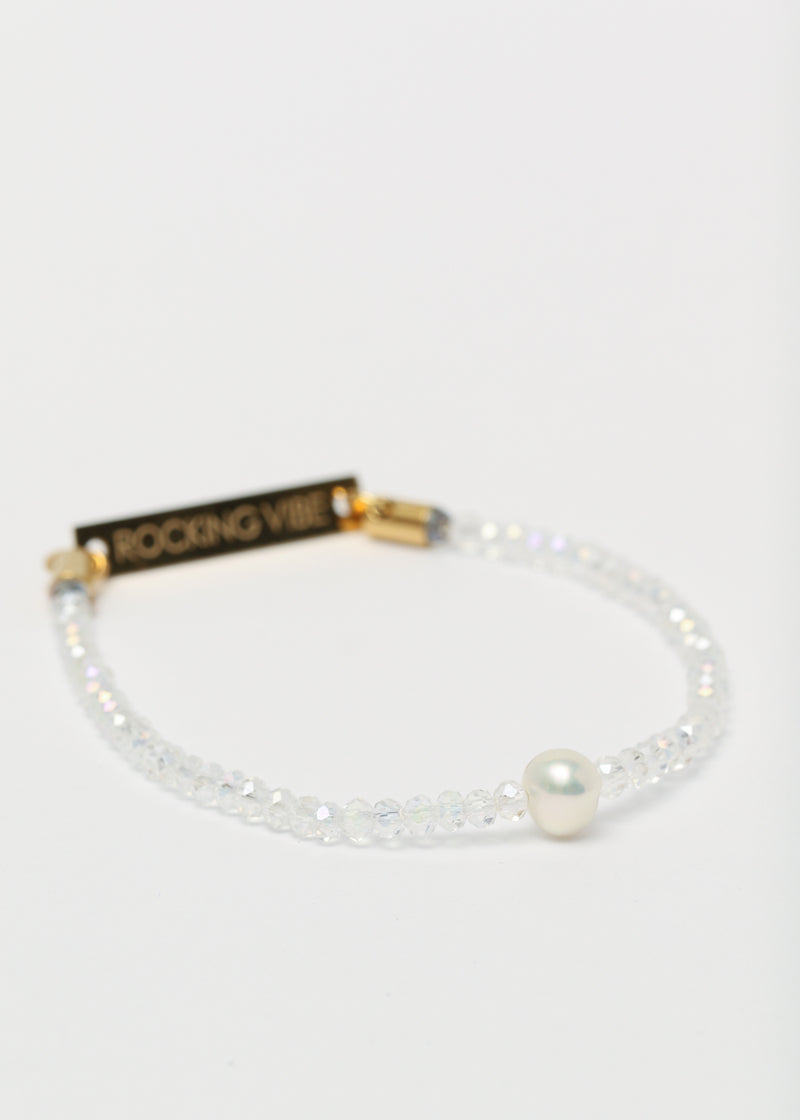 SOUL SPARKLE BRACELET - CLEAR WHITE
