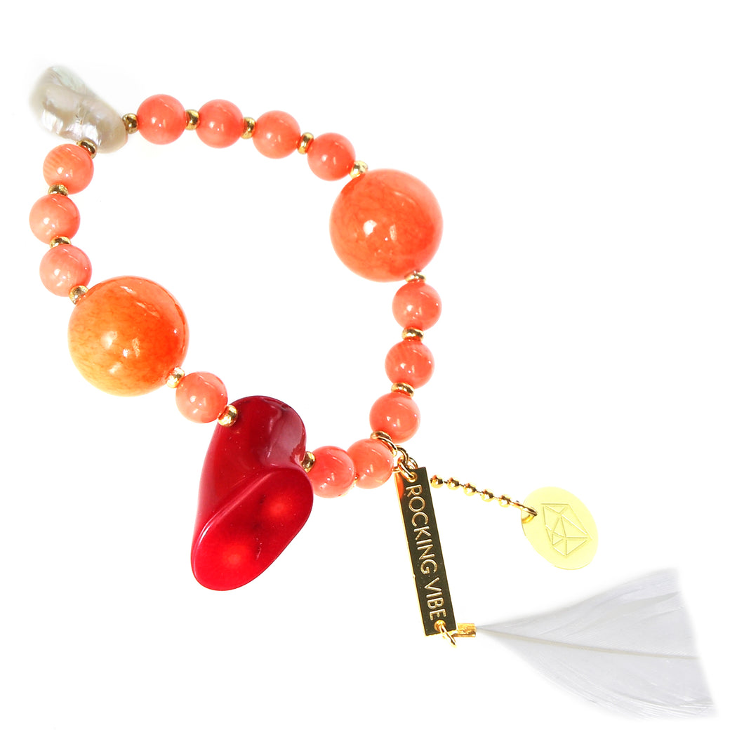 PROJECT HAPPY BRACELET - TANGERINE