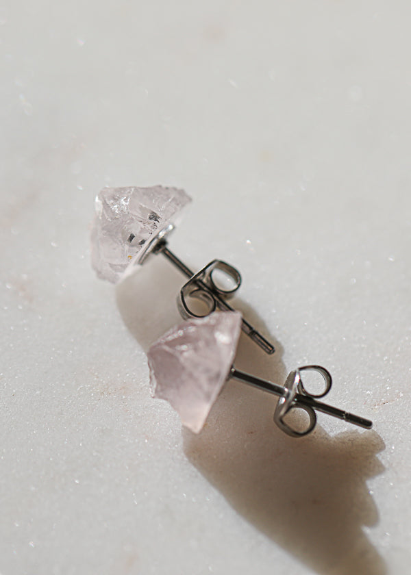 Rock Stud Rose Quartz (single)
