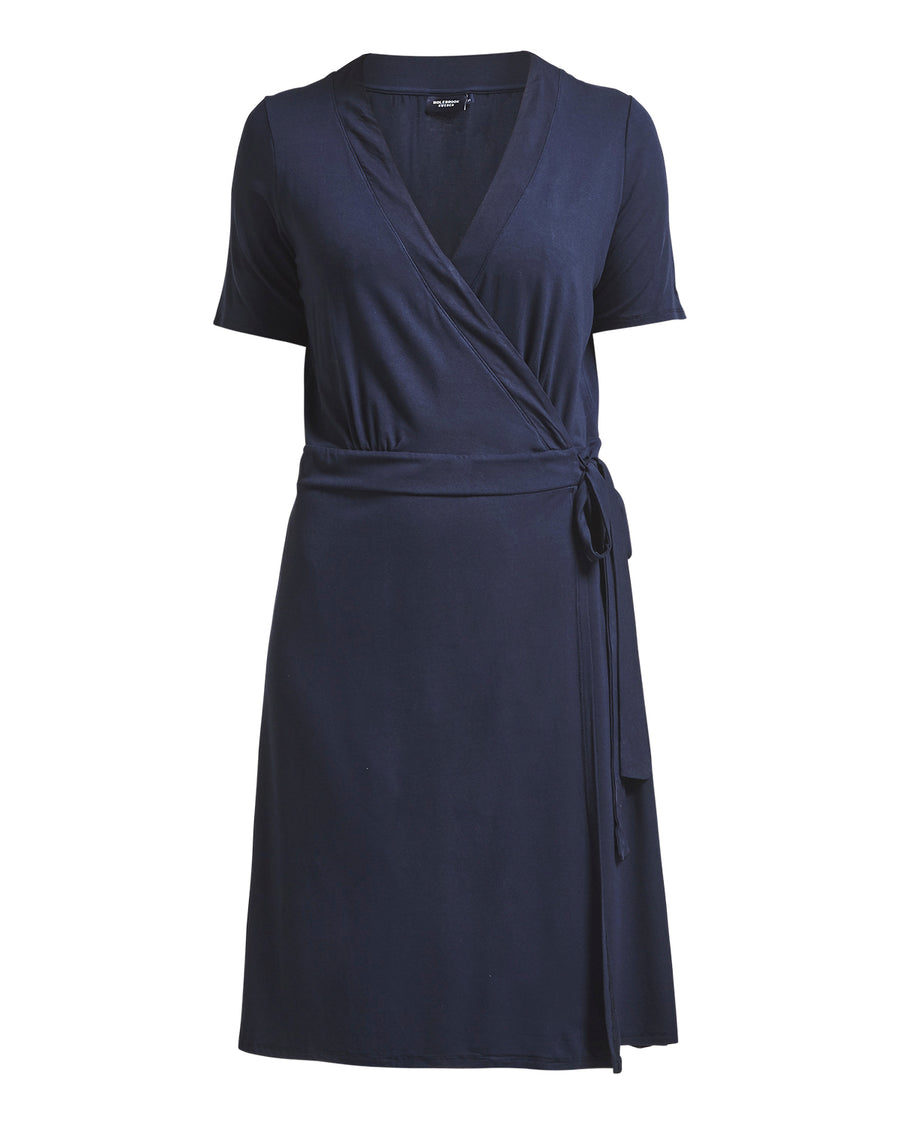 Elsa Wrap Dress -  Navy