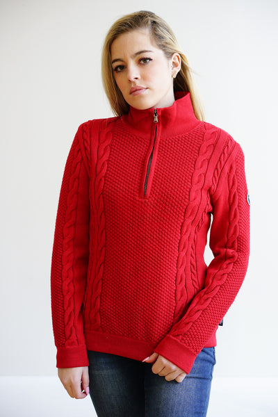 Annika T-Neck Windproof ~Red