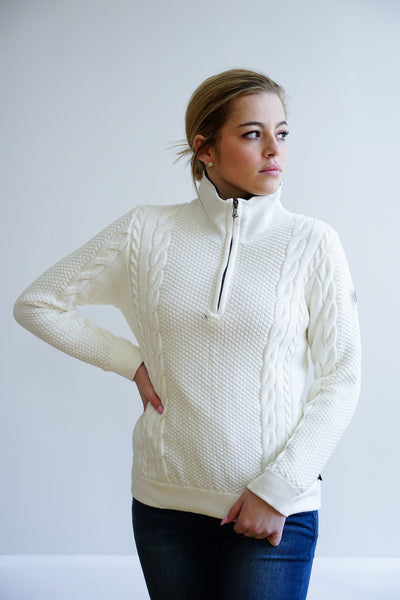 Annika T-Neck Windproof~ Off White
