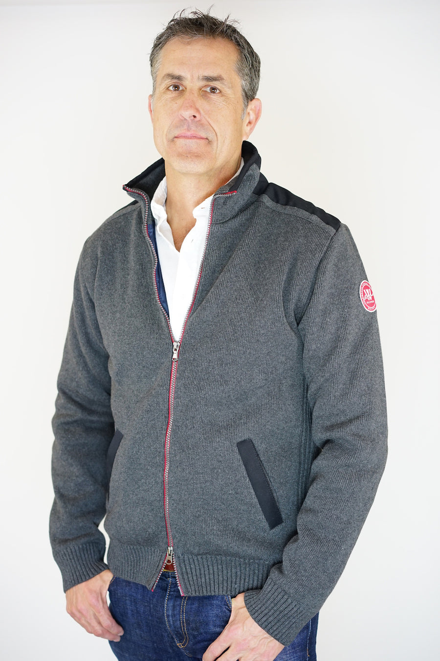 Gregor Full Zip Windproof- Antracite
