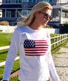 Holebrook USA Flag Crew White