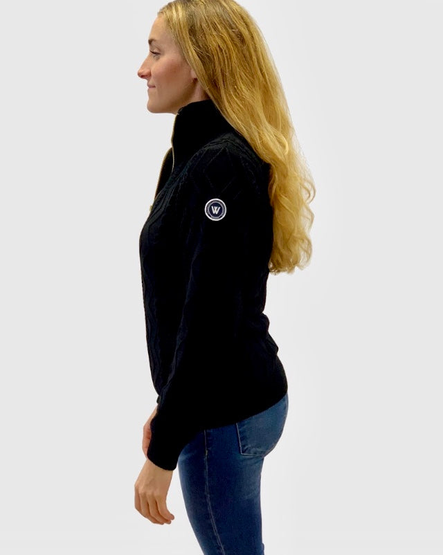 Holebrook windproof Amy Cotton Black Cotton jumper