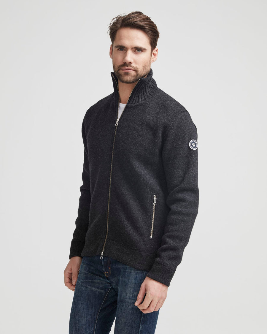 Mans Full Zip Windproof -Anthracite