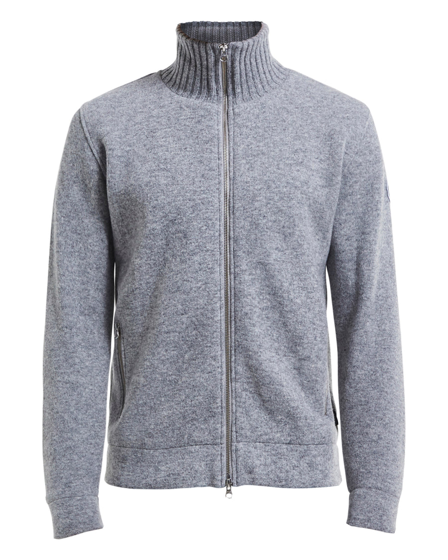 Mans Full Zip  Winproof- Grey melange