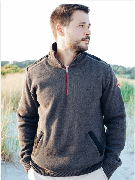 Gregor Windproof Quarter-Zip Antracit