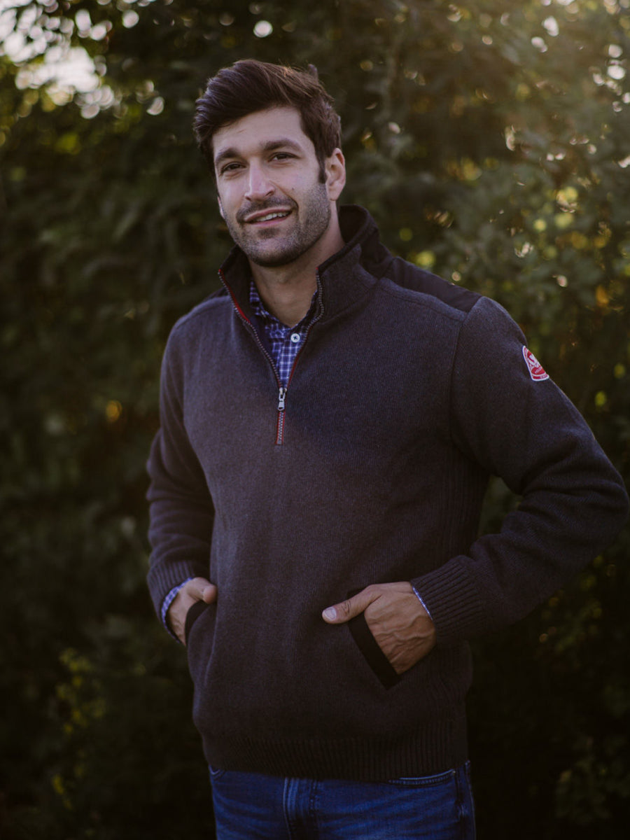 Gregor 1/4 Zip Windproof- Antracit