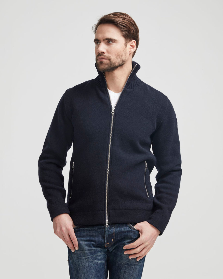 Mans Full Zip -Windproof- Navy