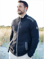MIKE FULL ZIP WINDPROOF SWEATER ~NAVY