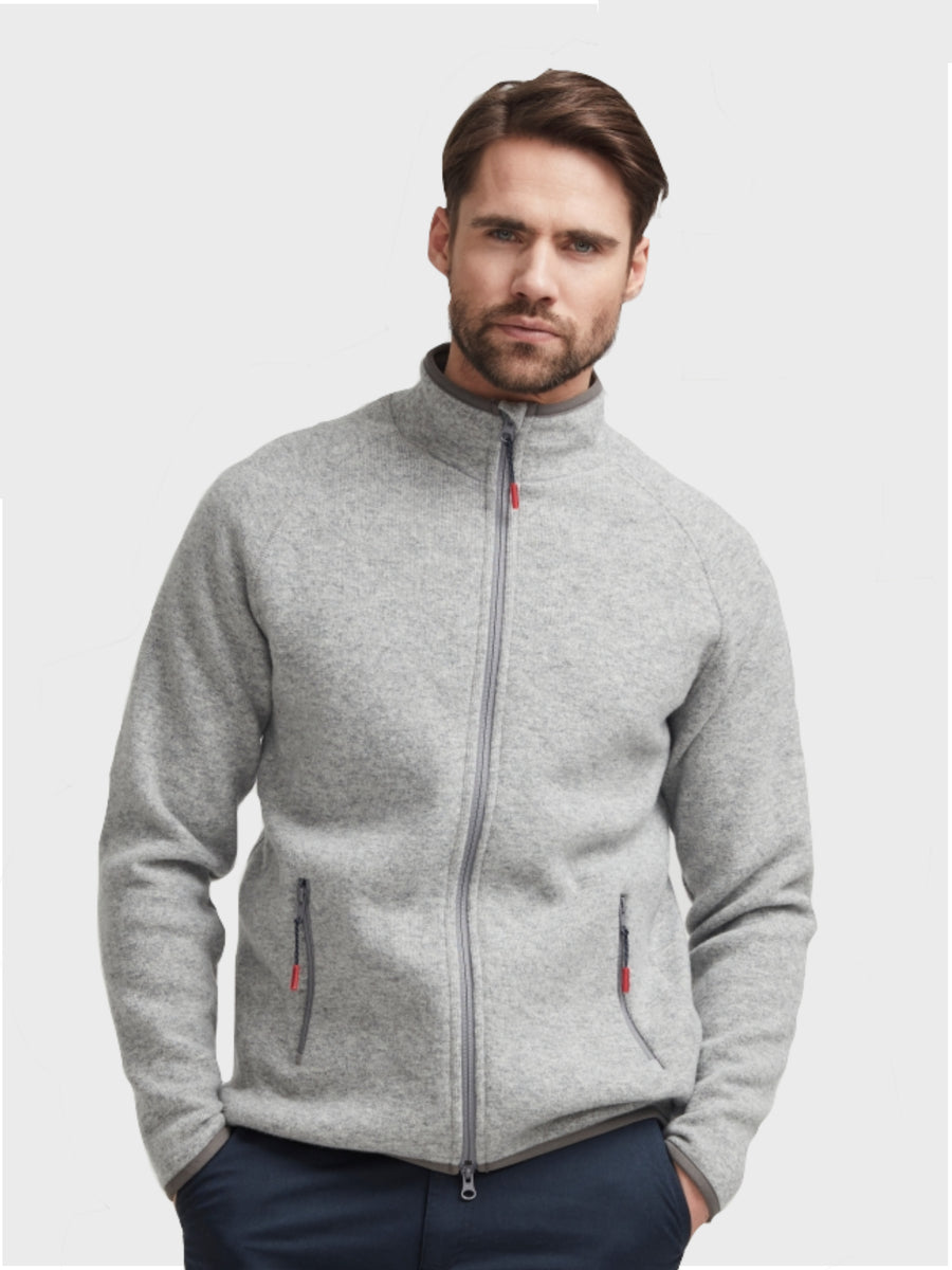 Nisse Full Zip WP Lt Grey