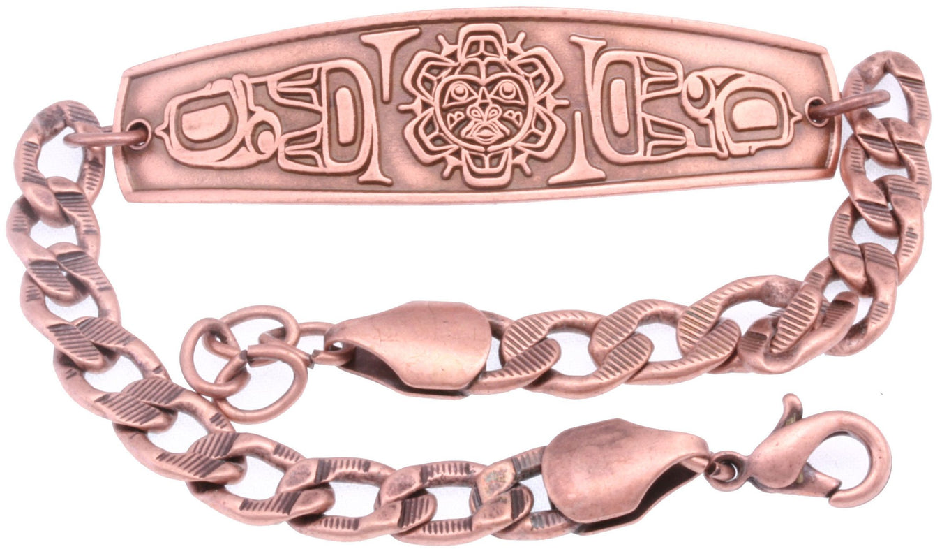Copper Embossed Chain Bracelets