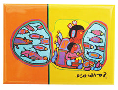 Norval Morrisseau Looking through the Portal