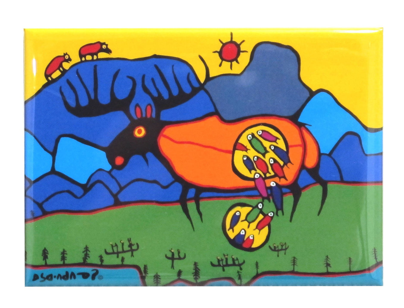 Norval Morrisseau Giant Moose