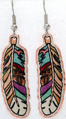 Colourful Feather Earrings - Oscardo
