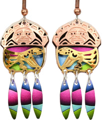 Colourful Cut Out Earrings