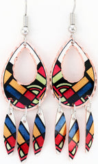 Colourful Multiple Earrings - Oscardo