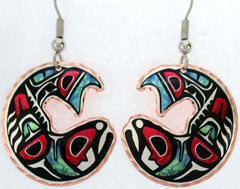Colourful Northwest Native Earrings - Oscardo