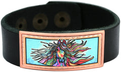 Colourful Lynn Bean Leather Bracelets