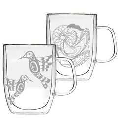 Double-Wall Glass Mugs