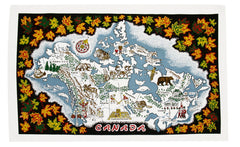 Canada Map Tea Towel