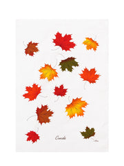 Ruth Lund Maple Leaves Tea Towel