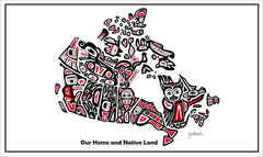 'Our Home and Native Land' Tea Towel - Oscardo