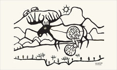 Norval Morrisseau Giant Moose Tea Towel