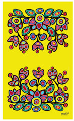 Norval Morrisseau Floral on Yellow Microfibre Towel