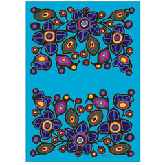 Norval Morrisseau Flowers and Birds Microfibre Towel