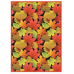 'Fall Leaves Black' Microfibre Towel