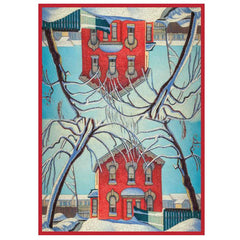 Lawren Harris Red House in Winter Microfibre Towel
