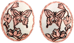 Butterfly Copper Stud Earrings