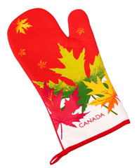 Maple Leaf Shines Oven Mitt
