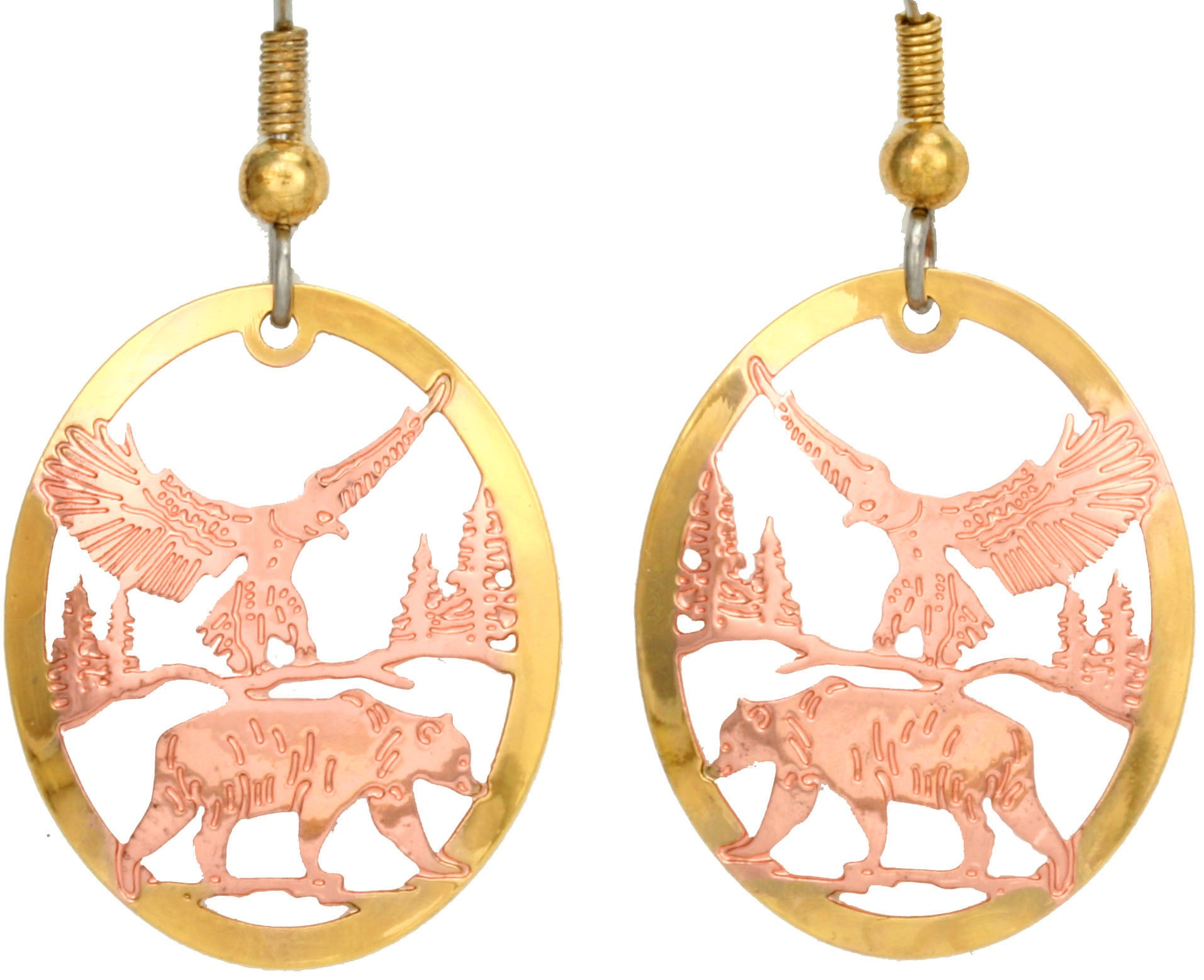 Eagle & Bear Cut-out Earrings