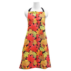 'Fall Leaves Black' Apron