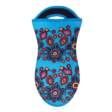 Norval Morrisseau Flowers and Birds Oven Mitt - Oscardo