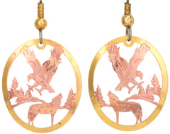 Eagle & Wolf Cut-out Earrings